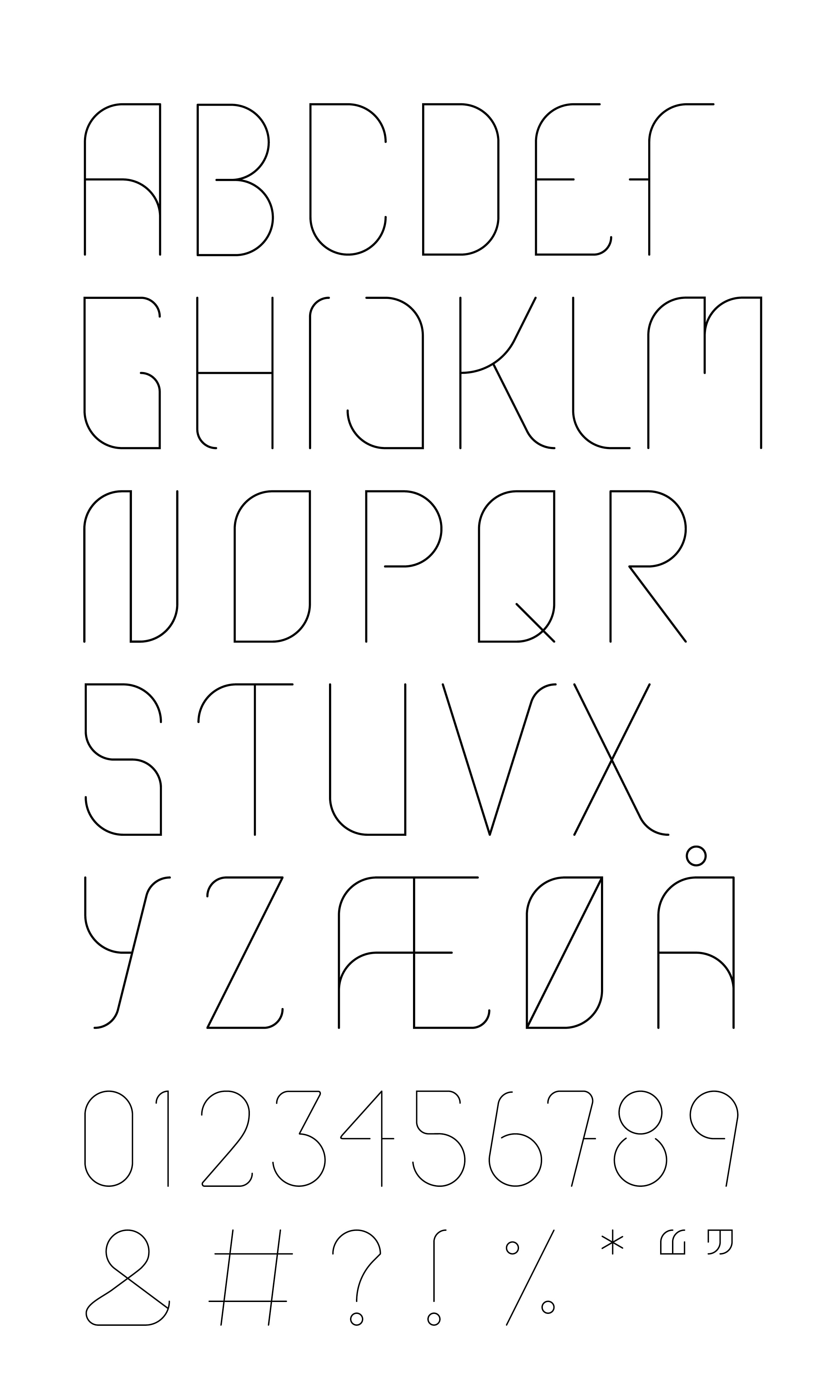 Typomania font overview